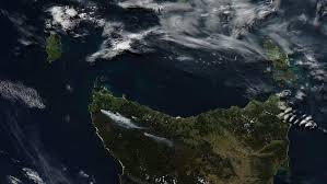 imagry analyst smoke from tasmania regeneration burns seen in satellite imagery