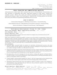 100 Public Relations Resume Samples Resume Examples Account