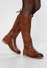 winter boots cognac