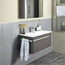wall hung bathroom sink units linen basin and wall mounted unit grey image 1 wall mounted bathroom sink cabinets
