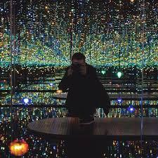 mirrored lighting. an infinite universe inside the mirrored lighting room and lights