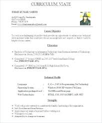 Best Resume Format For It Freshers Resume Creator Simple Source Classy Linux Fresher Resume Format