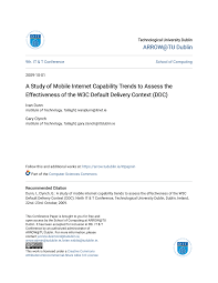 PDF) A Study of Mobile Internet Capability Trends to Assess the  Effectiveness of the W3C Default Delivery Context (DDC)