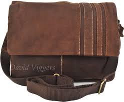 blousey brown buffalo leather messenger bag