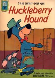 huckleberry hound gets a little push from pixie and dixie in the ic book huckleberry hound dell ics