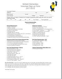 Community Service Form Inspiration Volunteer SignUp Sheet From Our File Exchange Volunteer