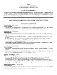 Restaurant Resume Template Best Resume Template Restaurant Manager About Community Job 27