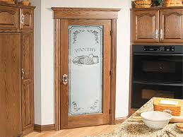 Custom Frosted Glass Pantry Doors