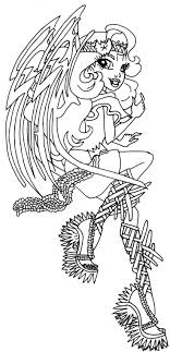 Batsy Claro Monster High Coloring Page