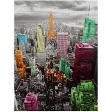 on canvas wall art new york city with high lights of new york skyline canvas wall art walmart
