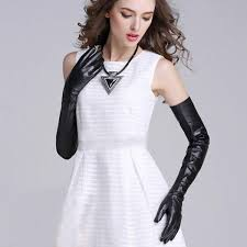saan bibili women super long above elbow real lamb skin long plain style opera leather gloves in black presyo ng pilipinas