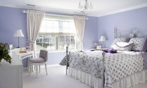 lavender wall paintLavender Bedroom Paint And Gray Build Bookcase Headboard Grey
