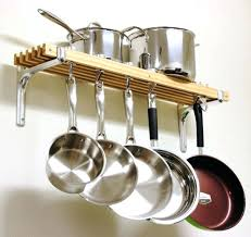 hanging pots and pans rack wall mount hanging pot rack w shelf pots pans hanger kitchen