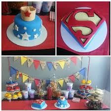 Boy Girl Twins Superman Wonderwoman Party Twin