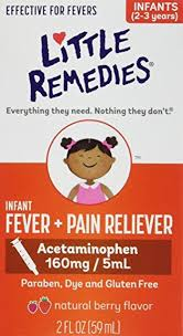 Little Remedies Fever Pain Reliever Natural Mixed Berry Infants 2 Fluid Ounce