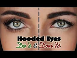 a makeup tutorial on the things you want to avoid with downturned droopy hooded eyes
