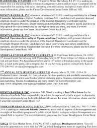 Graphic Design Internships Harrisburg Pa Sports Entertainment Career Fair Pdf Free Download