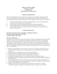 Resume For Housekeeping Manager Sample Supervisor Position Hotel