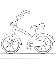 Small Picture Bicycle coloring page Free Printable Coloring Pages