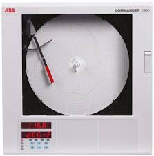Circular Temperature Chart Recorder Abb C1911 Circular Chart Recorder Measures Resistance Temperature Voltage