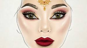 Bridal Face Chart Indian Bridal Make Up Time Lapse Youtube
