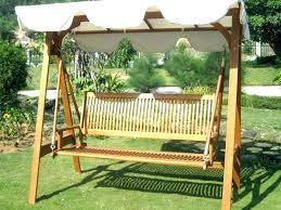 wooden porch swings with canopy beautiful freestanding swing your yard plans wood