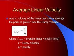average linear velocity