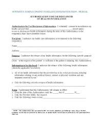 release of medical information template consent to release information template consent to release medical