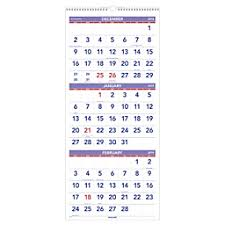 At A Glance Calendars 3 Month Reference 14 Month Vertical Wall Calendar