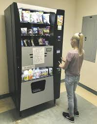 Healthy Choice Vending Machines Cool On The Bright Side New Unatego Vending Machine Offers Students