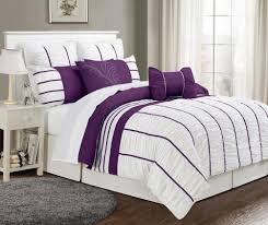 black and purple comforter sets queen inspiration king size bedding grey