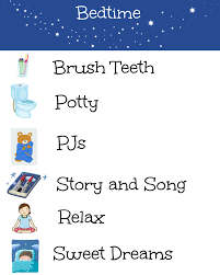 Bedtime Routine Chart Bedtime Routine Chart Nurture And Thrive Nurture And Thrive