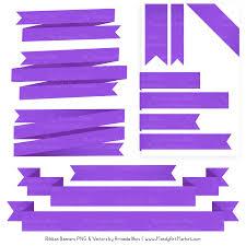 Purple Ribbon Banner Purple Ribbon Banner Clipart