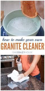 how to make granite cleaner a diy recipe for sparkling granite countertops