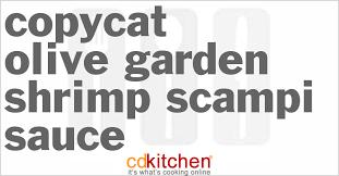 olive garden shrimp scampi sauce print recipe