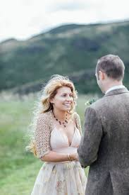 A BHLDN Gown for an Intimate Scottish Elopement Love My Dress.