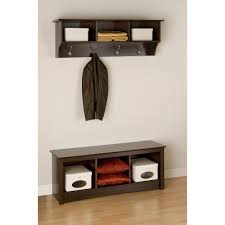 Coat Rack Attached To Wall Prepac Sonoma Entryway Wall Shelf Walmart 62