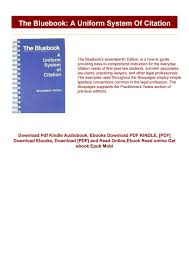Download Epub The Bluebook A Uniform System Of Citation Ebook