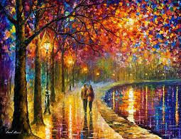romantic modern oil painting