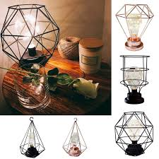decorative diamond shape geometric table lamp bulb shade bedside lighting home 1 of 10only 5 available see more