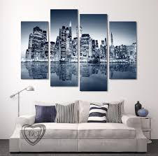 high quality 4 panels home decor wall art painting prints of city view artwork modern canvas print for home room decor unframed in painting calligraphy  on home decor wall art painting with high quality 4 panels home decor wall art painting prints of city