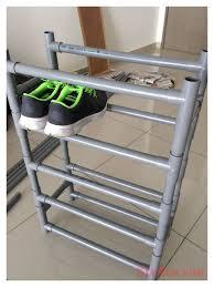 diy pvc furniture. pvc pipe shoe rack diy pvc furniture i