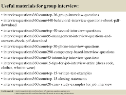 group interview questions top 10 group interview questions and answers
