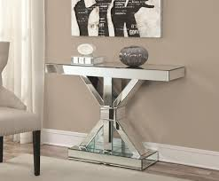 silver wood console table