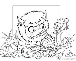 Small Picture Where The Wild Things Are Coloring Pages Coloring Pages Ideas