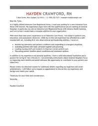 Resume Cover Letters For Nurses Best Intensive Care Nurse Cover Letter Examples LiveCareer 21