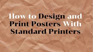 How To Design A Classroom Poster How To Design And Print Classroom Posters Using A Standard Printer