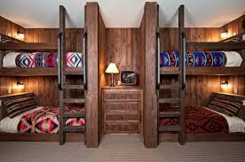 cool bunk beds built into wall. Eclectic Wooden Accessory With Nice Color And Streaky Motive Design. Built- In Model Cool Bunk Beds Built Into Wall F