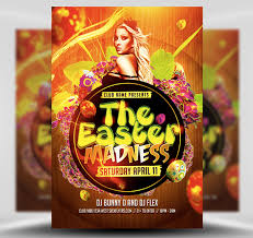 Easter Madness Party Flyer Template Flyerheroes
