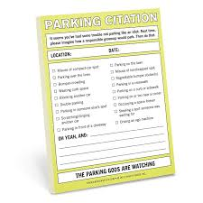 Knock Knock Nifty Note Pad Parking Citation